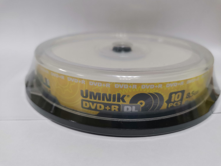 Двухслойные UMNIK DVD+R DL 8.5 GB 8x CB/10 Printable
