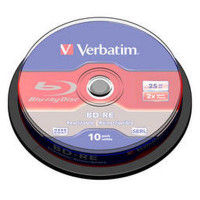 Blu-ray диски VERBATIM BD-RE 25GB 2x CB/10