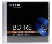 Диск blu ray BD-RE TDK 50GB 2x JC (5 шт)