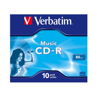 VERBATIM CD-R 700MB Audio Music Live It JC 43365