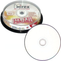 Двухслойные Mirex DVD+R 8.5GB 8x CB/10 Dual Layer Printable