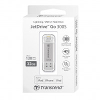 Флешка Transcend JetDrive Go 300S 32GB интерфейс USB 3.1/Lightning (Apple) Серебристая