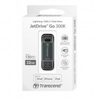 Флешка Transcend JetDrive Go 300S 32GB интерфейс USB 3.1/Lightning (Apple) Черная