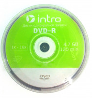 Диски intro DVD-R 16x cb/50