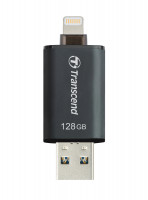 Флешка Transcend JetDrive Go 300S 128GB интерфейс USB 3.1/Lightning (Apple) Черная