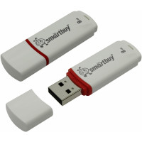 USB флешка 8GB Smart Buy Crown White