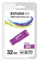 Флешка Exployd 32GB 560 Фиолетовая