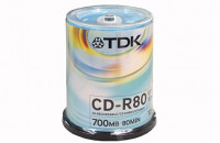 Диски TDK CD-R 700MB 52x CB/100 (t18773)